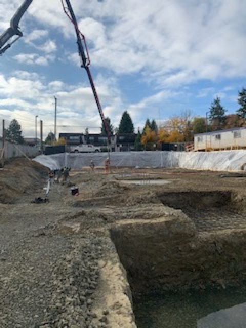 Project Lombardy lot with construction