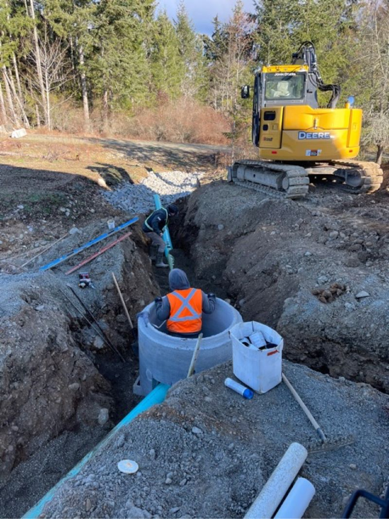 underground construction and excavating in process